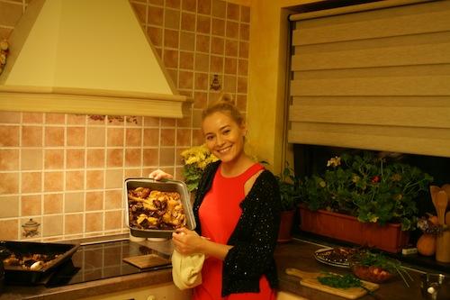 Pregatiri pentru musafiri – curcan la cuptor
