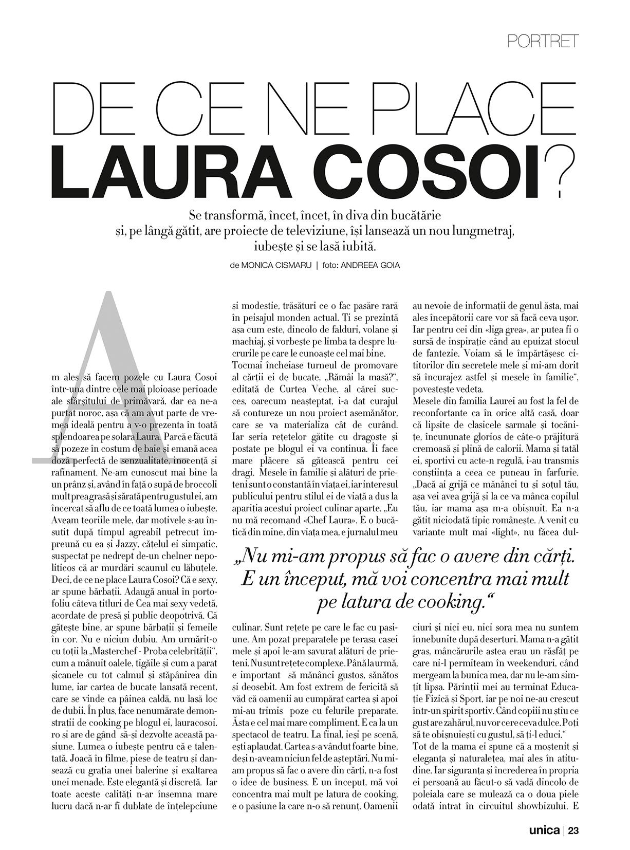 Laura Cosoi - Unica iulie 2014 - 02