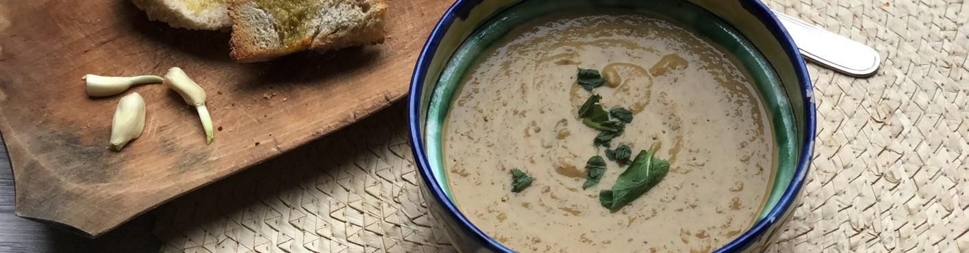 Supa crema de linte cu menta