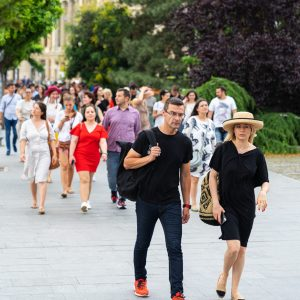 Turist in Bucuresti