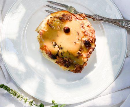 Cartofi copti de doua ori cu sos de miere si mustar