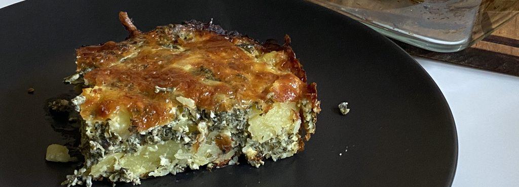 Budinca cartofi si spanac