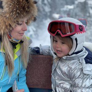 Prima lectie de ski a Ritei